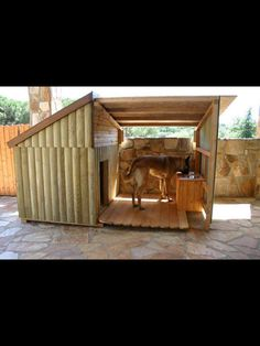DIY outdoor dog beds for large dogs Big Dog House. I want one for my boxers so bad! Big Dog House, Tiny House, Wooden Dog House, Puppy House, Winter Dog House, Heated Dog House, Large Dog House Plans, Dog House With Porch, Warm Dog House