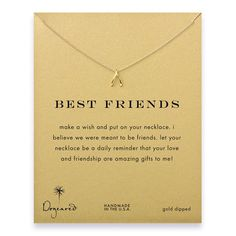 Best friends wishbone necklace, gold dipped! I want this with @Jennifer Milsaps L Milsaps L O'Brien !
