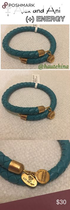 Authentic Alex & Ani braided leather bracelet Brand NWT authentic and beautiful Alex & Ani braided leather bracelet. Color is mix of dark green and blue. Alex & Ani Jewelry Bracelets