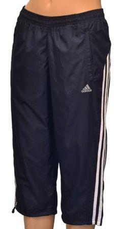 ecf3a8431db73 Adidas Women s 3 Stripe Wind Capri Pants - Navy adidas.  34.98
