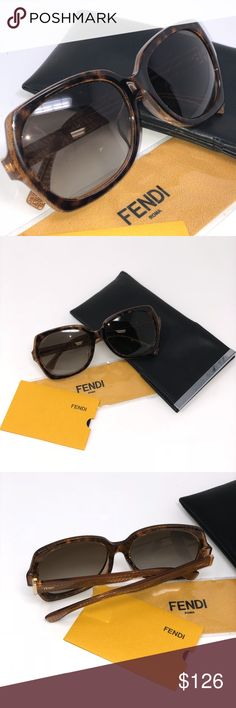 FENDI Sunglasses Brand new and in the box stylish FENDI sunglasses! These are in immaculate shape and even have all the original extras like the dust rag and certificate of authenticity! FENDI Accessories Sunglasses