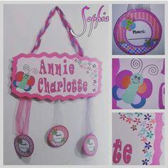Letrero para la puerta de la habitacion de una niña.  Creacion propia