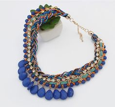BOHEMIAN MULTIPLE LAYER NATIONAL IN COLOR NECKLACES