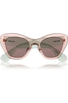 136c625e6903 Miu Miu - Two-tone cat-eye acetate sunglasses
