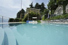 Pool facing the Como Lake in #Italy #Lovelyholidays #Familyandfriends