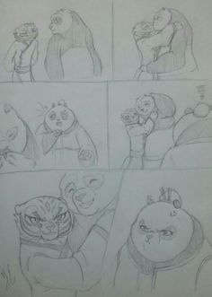 Tigress Kung Fu Panda, Po Kung Fu Panda, Po And Tigress, Dreamworks, Furry Oc, Dragon Warrior, Drawing Expressions, Furry Girls, Anime Couples Manga