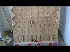 how to make your own plinko board (language)