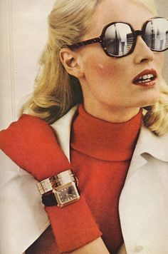 Skyskrapers in her eyes….Gunilla Lindblad by Newton in 1972.
