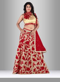 Add a adolescent burst of color to the wardrobe with this silk lehenga choli…