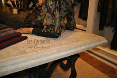 want the same?#french #stoneflooring #anticstone #design  #frenchstone #castle #french #limestone #beige #table