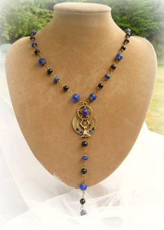 Goddess Isis Rosary necklace  wicca pagan by SpellboundOriginalz
