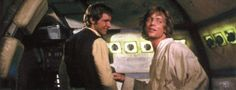 From a cut scene from Star Wars: A New hope. Luke and Han congratulated each other after they escaped the Death Star and TIE fighters. I believe this took place just before the Han and Leia cockpit. Mark Hamill Luke Skywalker, Star Wars Luke Skywalker, Han And Leia, Magazine Man, Star Wars Episode Iv, Tall Tales, Carrie Fisher, A New Hope, Death Star