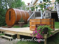 Cedar Barrel Sauna - Cedar Saunas, DIY Sauna Kits, Indoor & Outdoor Saunas: Choose A Cedar Barrel Sauna For Your Backyard