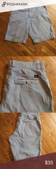 Lacoste mens shorts Lacoste black and white checkered shorts.  In great condition.  Size 34 Lacoste Shorts Flat Front