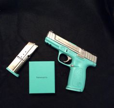 Tiffany Gun Blue Cerakote Smith and Wesson SD9VE Tiffany & Co. Guns & Girls