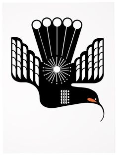 New Zealand art: Huia in Flight Nz Art, Art For Art Sake, New Zealand Art, Laser Cut Patterns, Maori Art, Kiwiana, Paint Effects, Art Classroom, Bird Art