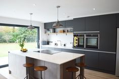 Image result for modern kitchen dark grey #cocinasmodernasgrises