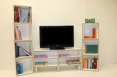 Fotos de FastenBox13 Plywood Shelves, Box, Flat Screen, Furniture, Home Decor, Form Design, Modular Bookshelves, Pictures, Homemade Home Decor
