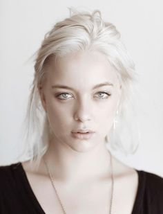 I LOVE white blonde hair with pale skin. So ethereal