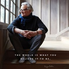 The world is what you believe it to be. - Byron Katie It changes as you change. Have you noticed? thework.com