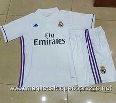 Nuova maglie calcio 2016 per maglia Home Real Madrid 2017