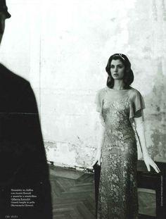 GRAZIA ITALY – SEPTEMBER 2011 @grazia calabretta Micalizzi.it #fashion #magazine #editorial #albertaferretti #look #dress #nude #lace