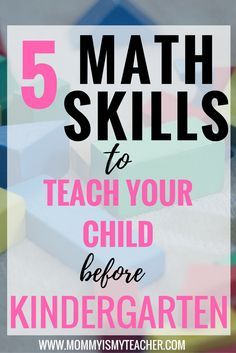 I'm so glad I found this list of preschool math skills. My daughter will improve her kindergarten readiness with these math activities.