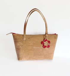 Regalo de novia bolso bolso ecológico con Zip por MyCottonHouse