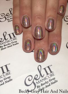 #gelii #manicure bare bare #magpieglitter Wendy with aurora ontop #showscratch #nails #tcbg #geltwo #gel2