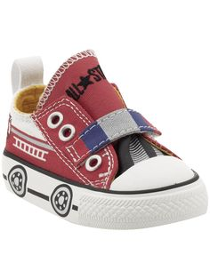 Red firetruck converse shoes via Piperlime. Caleb NEEDS these!