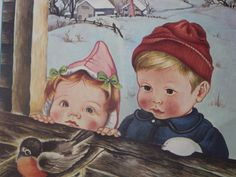 Eloise Wilkin illustration.... had several books as a child that she illustrated. Love how she drew children..