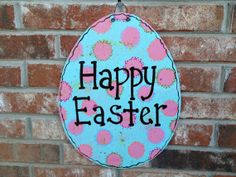 Large Wooden Happy Easter Sign Easter Decor by SouthernSupply, $18.00
