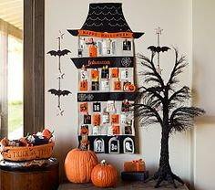 pottery barn kids halloween spooky tree countdown advent calendar potterybarnkids trees and advent calendar - Pottery Barn Halloween Decorations