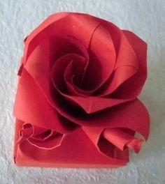 Origami Box - Rose Square Box