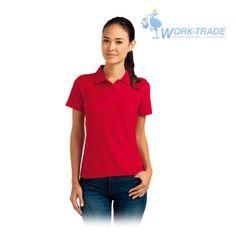 Damen-Polohemd-Hemd-T-Shirt-Poloshirt-100-Baumwolle-Rot-Gr-S-XXL-NEU-TOP