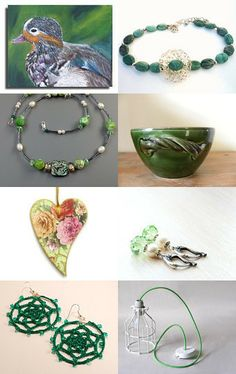 A Little Green for St. Paddy's Day by Leanna on Etsy--Pinned with TreasuryPin.com