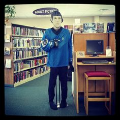 Do you like Sci Fi? Stop by to see Spock and grab a book!