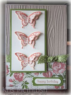 Butterflies and Roses Card