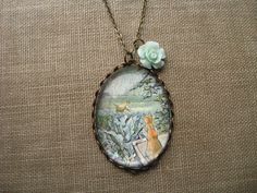 Peter Rabbit in the garden necklace by fairytalesbybluebird.