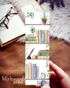 Bookmark featuring bookshelves any reader would envy. Dripping with leather-bound editions and creeping plants, this bright and cozy nook looks like a dream for any book lover. Mark your place with this beautiful botanical bookish bookmark. Tuck into a copy of your favorite book for the perfect gift! Doesn't everyone love bookmarks!? -Size 2x6 inches -Printed on heavy white linen card stock - not laminated -Comes with a clear plastic sleeve -Single-sided, the back is white FREE standard shipping Creative Bookmarks, Cute Bookmarks, Bookmark Craft, Bookmark Ideas, Handmade Bookmarks, Paper Bookmarks, Corner Bookmarks, Ribbon Bookmarks, Diy Marque Page