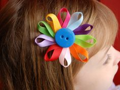 One Daisy Girl Scout Flower Petal Hairclip by stayhomecupcake