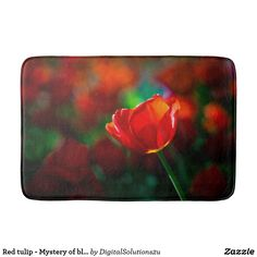 Red tulip - Mystery of blooming Bath Mat
