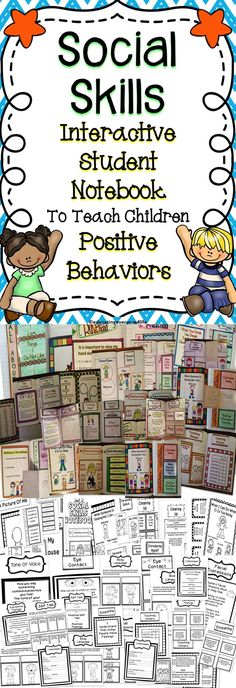 This Interactive Notebook Is All About Social Skills. Children will learn positive social skills to use in their everyday life. #teach