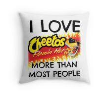 Hot Cheetos Throw Pillow