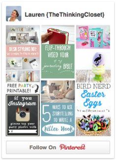 Follow Lauren on Pinterest!