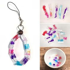 ペットボトルでビーズを作ろう!【子供工作】 – Handful[ハンドフル] Summer Crafts, Diy Crafts For Kids, Infant Activities, Activities For Kids, Ideas Hogar, Resin Charms, Plastic Jewelry, Handicraft, Diy Art