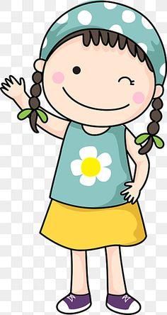 Girl Cartoon, Cute Cartoon, Children Cartoon, Art Children, Children Clipart, Art Drawings For Kids, Drawing For Kids, Easy Drawings, Doodles
