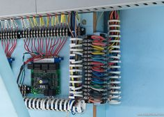 Digitrax BDL168, PM42, DS64 and CML SIGM20 boards wired up
