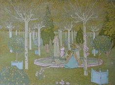 Gaston de Latenay, Le parc, published in Estampe Moderne, 1897