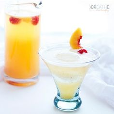 Low Carb Sparkling White Sangria - not super low carb with peaches. Need to figure out a non-sucralose mango mixer to use. Like the idea of using vodka and bourbon (2:1) in this.